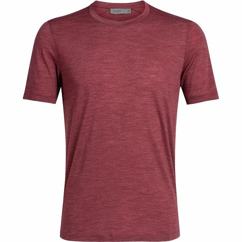 ICEBREAKER Men's Cool-lite™ Sphere Short Sleeve Crewe - Cabernet Heather / Large