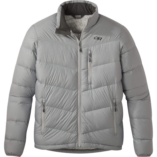 Outdoor Research Men's Transcendent Down Jacket - Light Pewter / Small