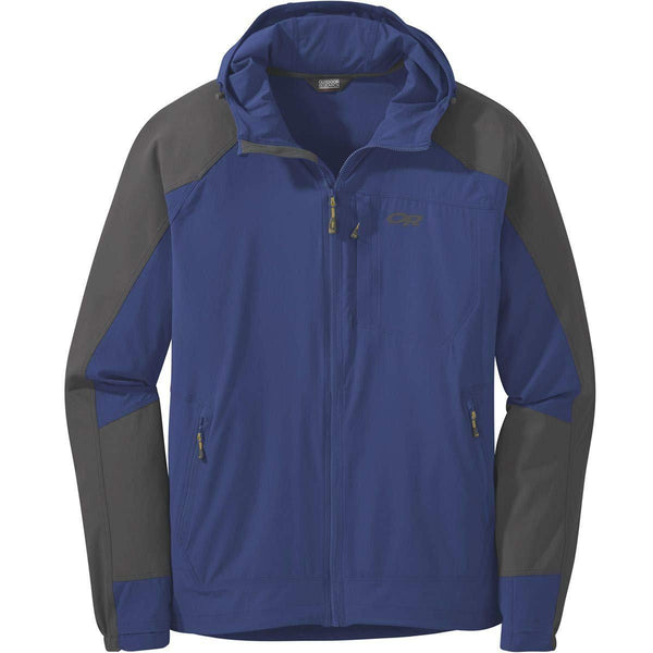 Outdoor Research Men's Ferrosi Hooded Jacket - Sapphire/Storm / Large