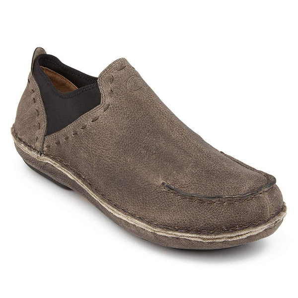 Tamarindo Boatslip Men's Leather Slip On Shoe - Sand - Pebble / 10