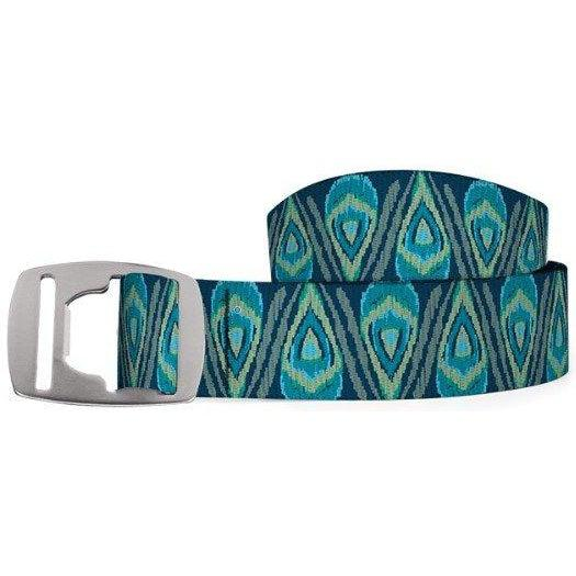 Croakies Belt - Peacock Turquoise/Silver / OS