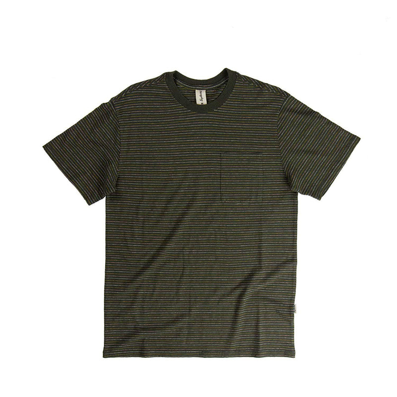 Fayettechill Nelson T Shirt - Large / Black Ink Stripe