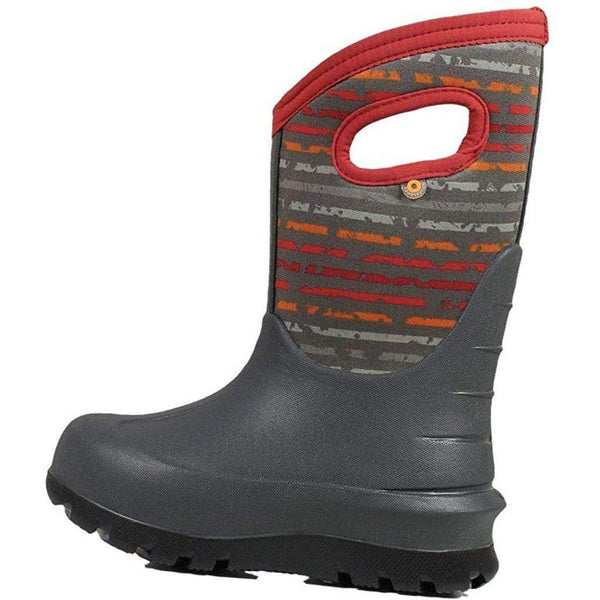 Bogs Outdoor Boots Boys Neo Classic Spot Stripes Waterproof 72506 - Grey / 1 Little Kid