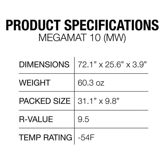 Exped Megamat 10 Insulated Self-inflating Sleeping Pad - Grivet Outdoors