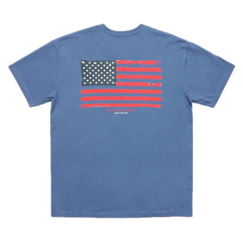 Southern Marsh Vintage Flag Short Sleeve T-Shirt in Bluestone - Default Title / Default Title