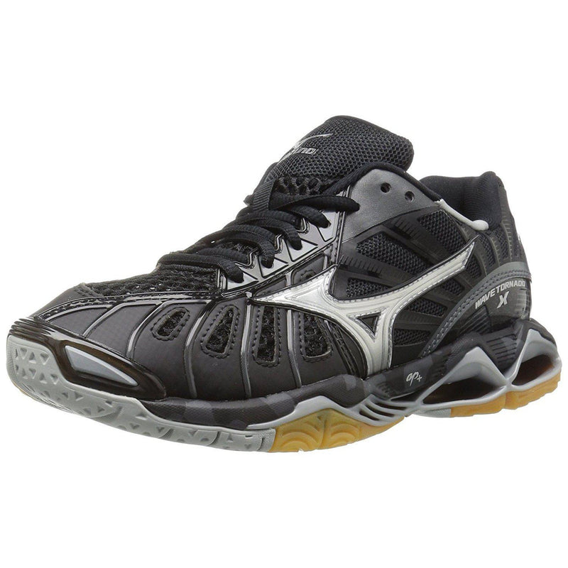 Mizuno Women's Wave Tornado X Volleyball Shoe - 7 B(M) US / Black/Silver