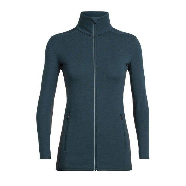 Icebreaker Women's Delta Long Sleeve Zip - Nightfall / L
