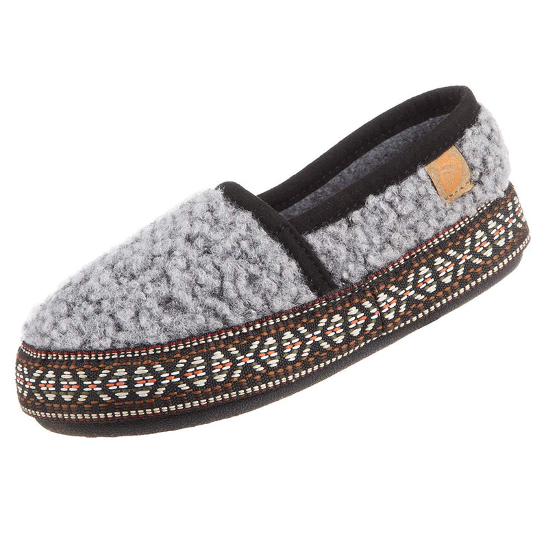 Acorn Kids' L'il Woven Trim Moc Slipper - Stormy Grey / 1 Little Kid