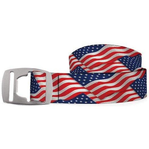 Croakies Belt - USA Flag/Silver / OS