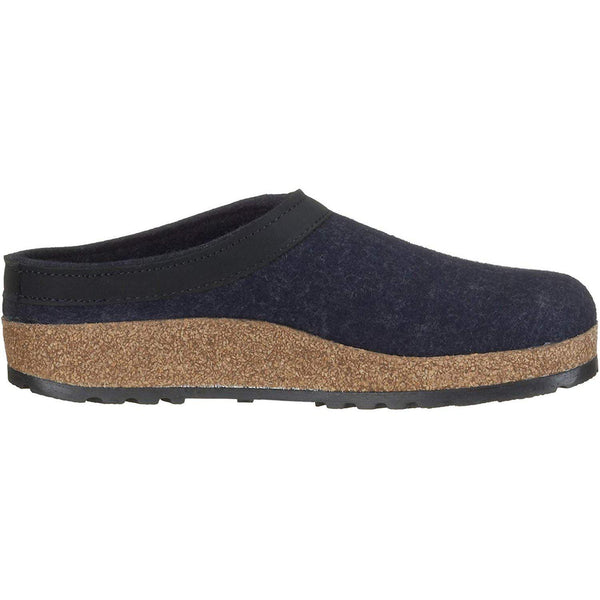 Haflinger Unisex GZL Leather Trim Grizzly Clog - [variant_title]