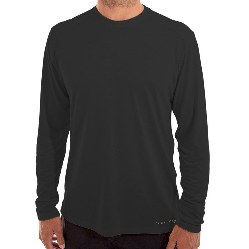 Free Fly Men's Bamboo Lightweight Long Sleeve - Black / Medium