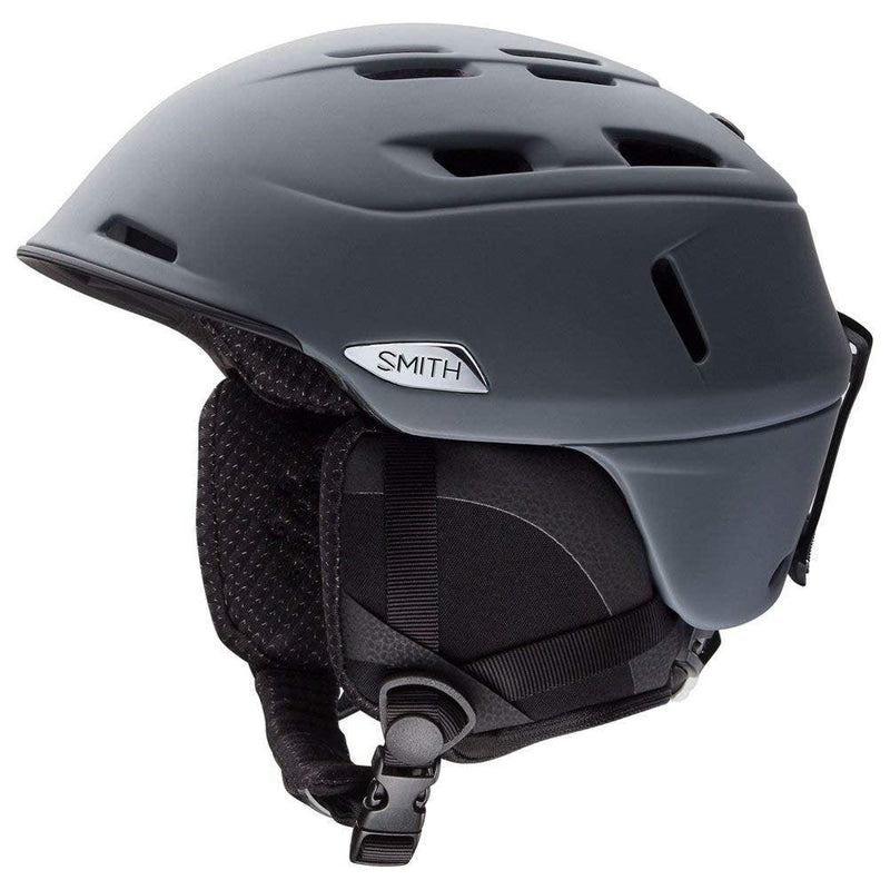 Smith Optics Adult Camber Ski Snowmobile Helmet - Matte Charcoal / Medium (55-59CM)