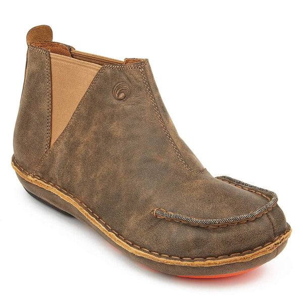 Tamarindo Seafarer Men's Boot Leather Slip On Ankle Booties - Sand / 10