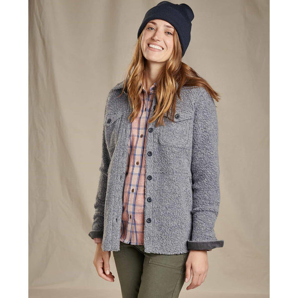 Toad & Co.  Women's Telluride Sherpa Shirtjac - Grey Heather / L