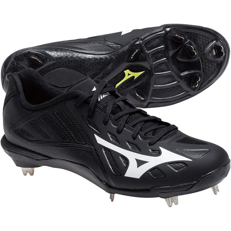 Mizuno Men's Heist IQ Baseball Shoe - Black/Black / 11.5