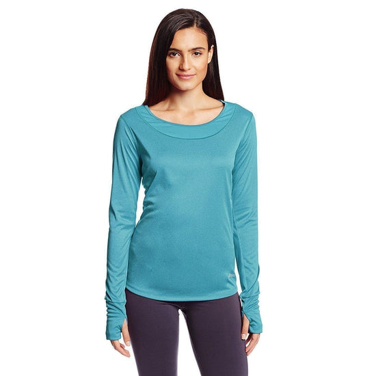 Asics Women's Fit-Sana Long Sleeve T-Shirt - Bondi Blue / Medium