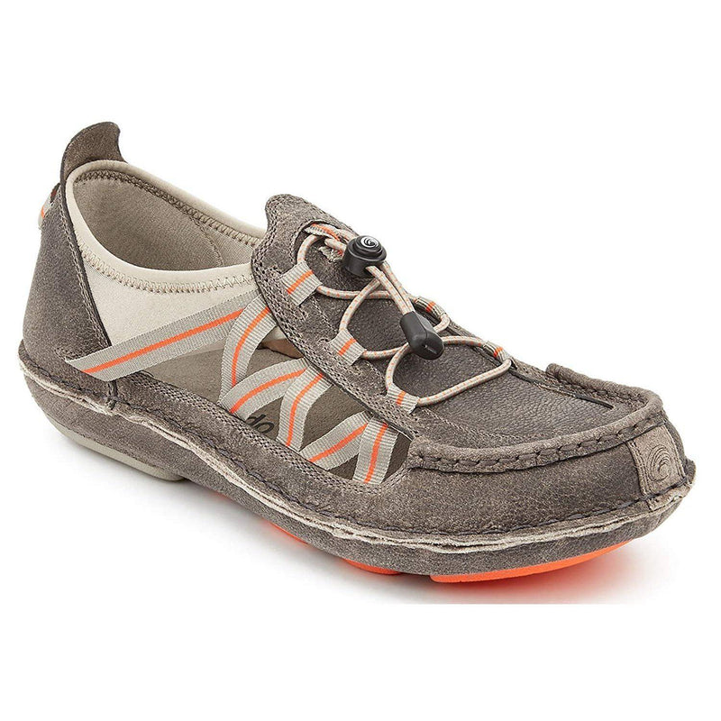 Tamarindo Mangrove Men's Leather Shoe - Lightweight Outdoor Hiking Sneaker - Pebble/Sunset / 10