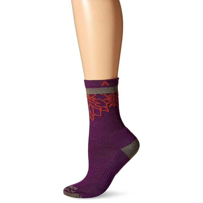 Wigwam Women's Haiku Valley Pro Peak 2 Pub Wool-Free Mid-Crew Length Socks-Grivet Outdoors