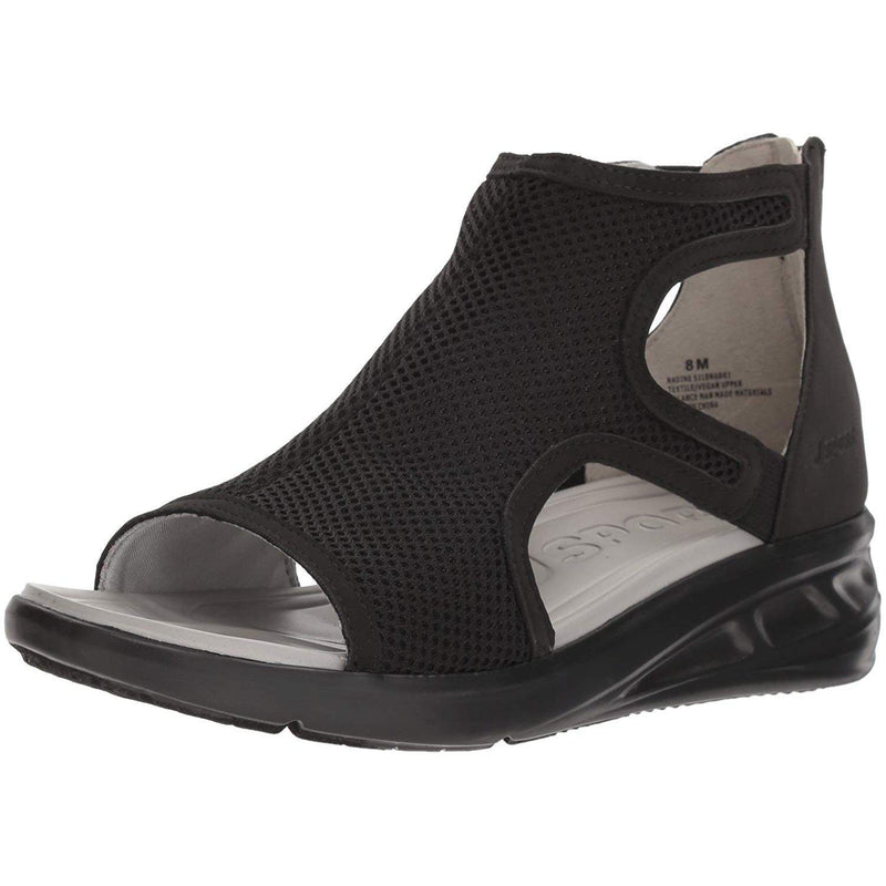 JSport by Jambu Women's Nadine Wedge Sandal - Black / 11