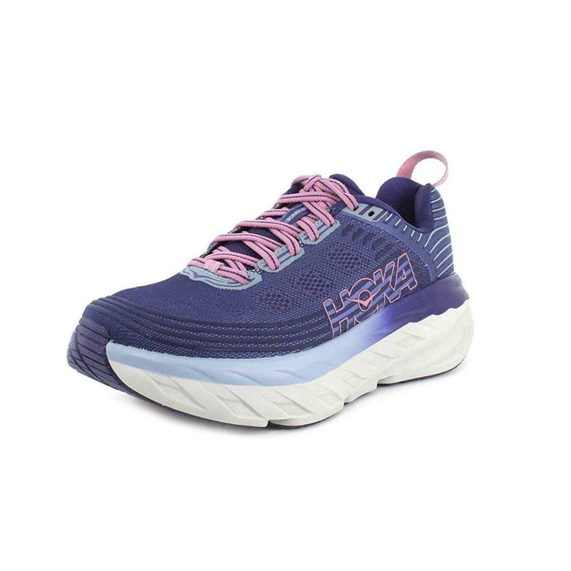 HOKA ONE ONE Women's Bondi 6 Running Shoe - Marlin/Blue Ribbon / 7