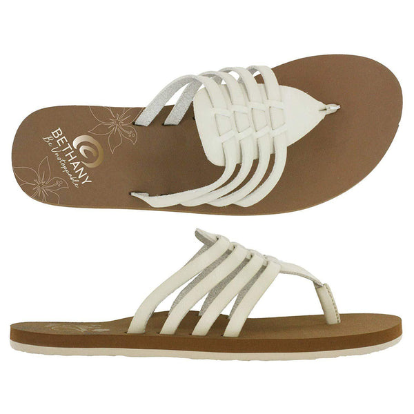 Cobian Women's Aloha Sandals - Bone / 6