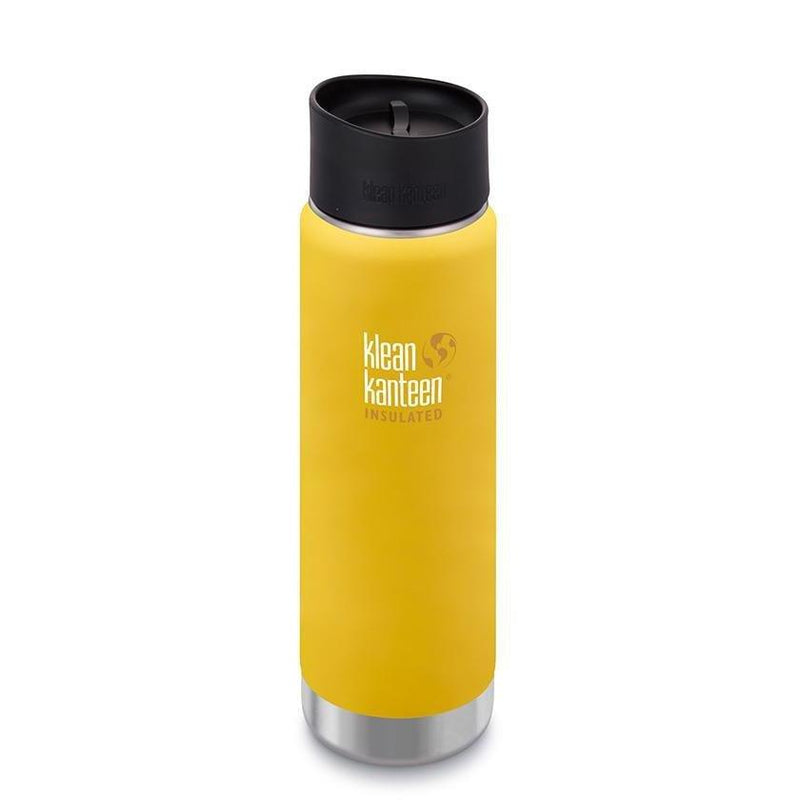 Klean Kanteen Insulated Wide 20oz - Café Cap - Lemon Curry
