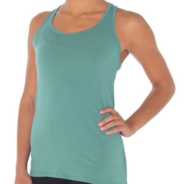 Free Fly Women's Bamboo Racerback - Bottle Green / Large
