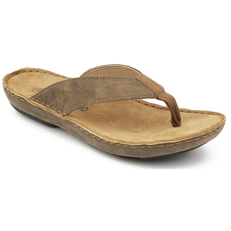 Tamarindo Beachcomber Sandal Men's Leather Softbed Flip Flop - Sand / 10