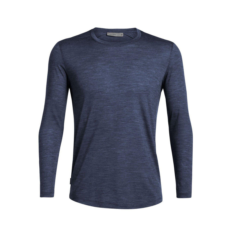 ICEBREAKER Men's Cool-Lite™ Sphere Long Sleeve Crewe - Midnight Navy Heather / Large