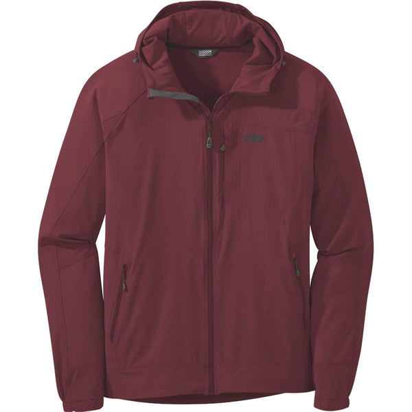 Outdoor Research Men's Ferrosi Hooded Jacket - Retro Red / Large