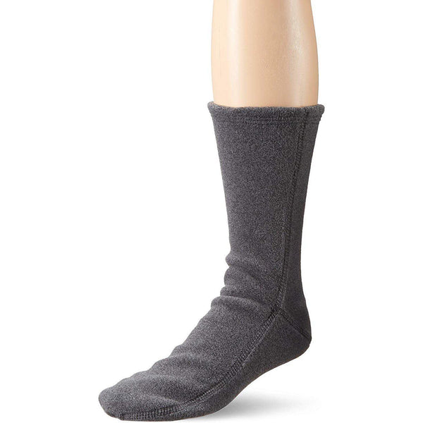 Acorn VersaFit Fleece Slipper Socks for Men and Women - Charcoal / XS Men's 6-6.5/Women's 7-8