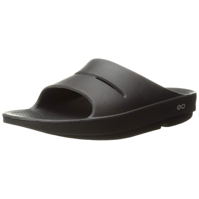 OOFOS Unisex Ooahh Slide Sandal - Black / 7 Women / 5 Men