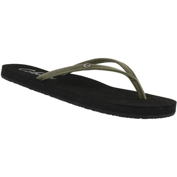 Cobian Women's Nias Bounce Flip-Flop Sandal - Olive - New for 2019 / 10