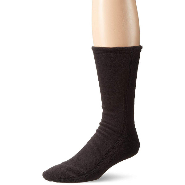 Acorn VersaFit Fleece Slipper Socks for Men and Women - Black / XXS 5-6.5 Women