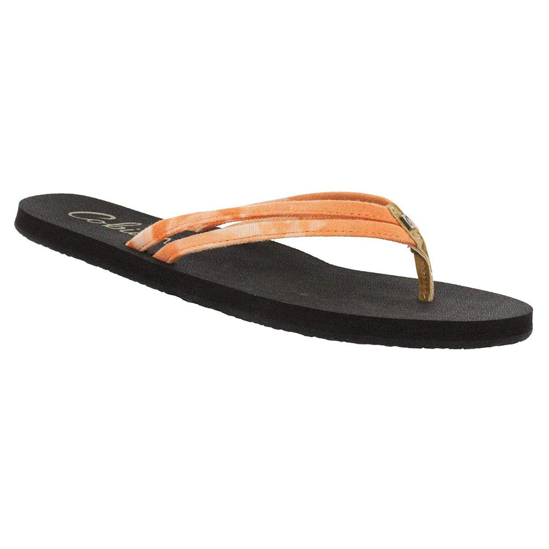 Cobian Women's Soleil Multi Flip Flops - Orange / 10