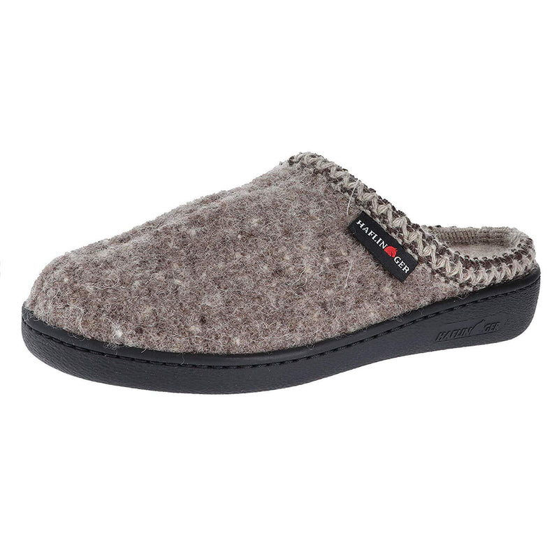 Haflinger Unisex AT Boiled Wool Hard Sole Slipper - Natural / 6 Women / 4 Men