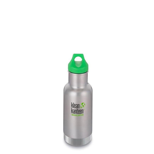 Klean Kanteen Insulated Kid Classic 12oz - Loop Cap - Brushed Stainless