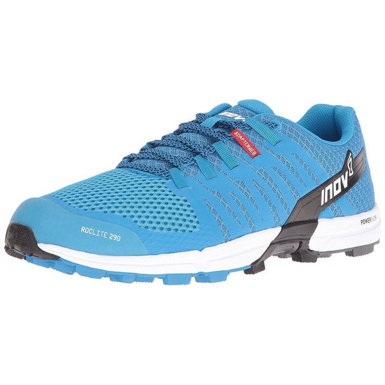 inov-8  Roclite 290 Trail Running Shoe Men's - Blue/Black/White / 9.5