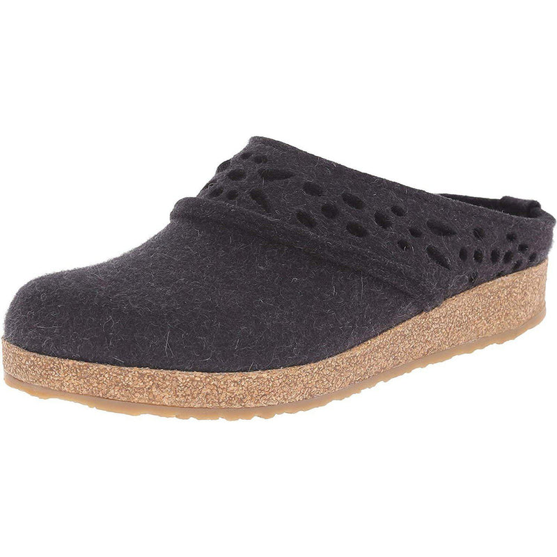 Haflinger Women's Lacey Clog - Charcoal / 11