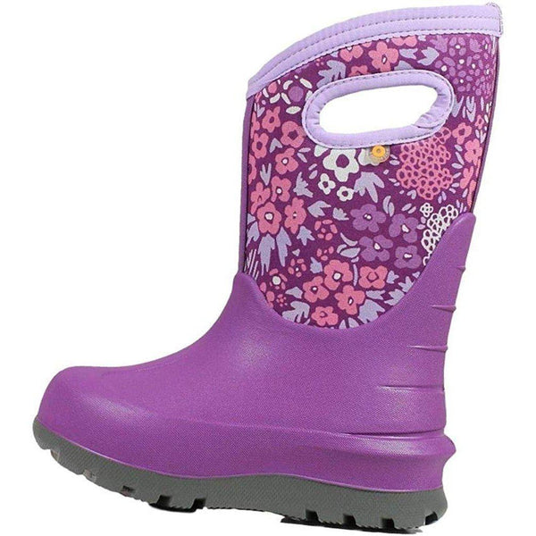 Bogs Outdoor Boots Girls Neo Classic NW Garden Waterproof 72505 - Purple Multi / 12 Little Kid