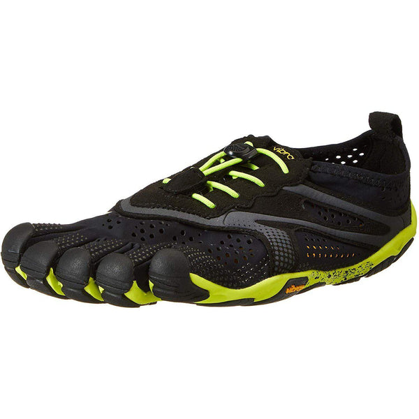 Vibram Men's V Running Shoe - Black, Yellow / 7.5-8
