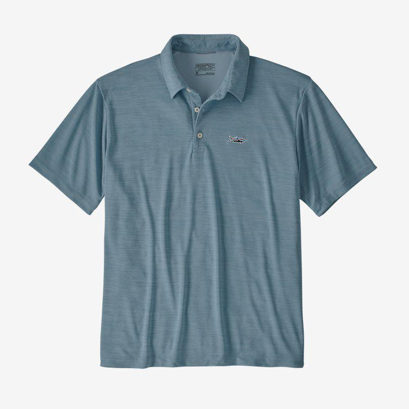 Patagonia Men's Sunshade Polo - Tarpon Fitz Roy - Berlin Blue / Extra Large