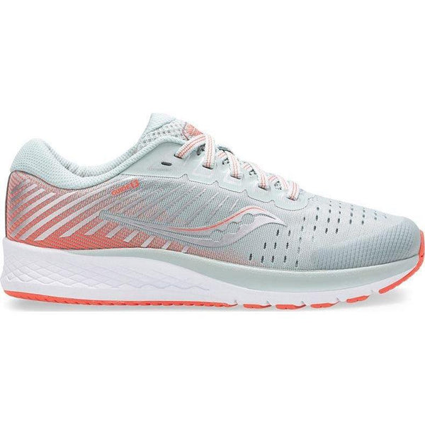 Saucony Girls' S-Guide 13 Running Shoe - Grey/Coral / 3