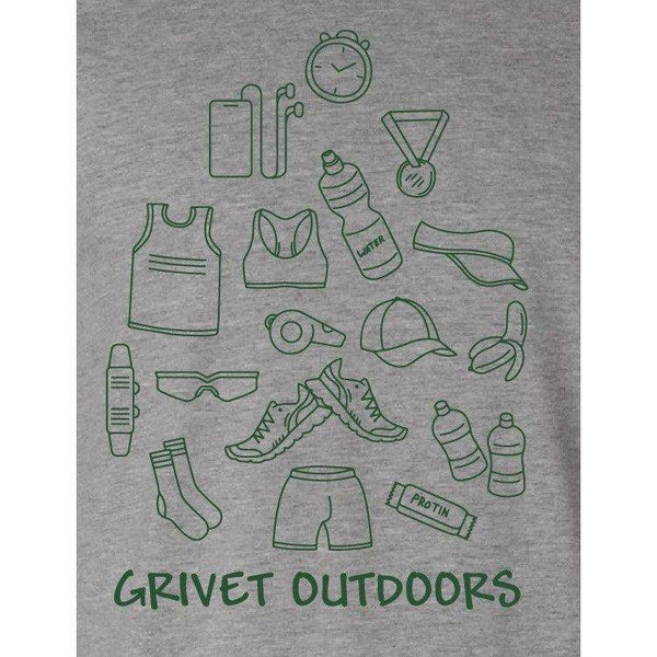 Grivet Outdoors Tee | Run Cloud - Grey w/ Green / Extra Large