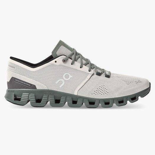 ON Running Men's Cloud X Running Shoes - Glacier | Olive / 10