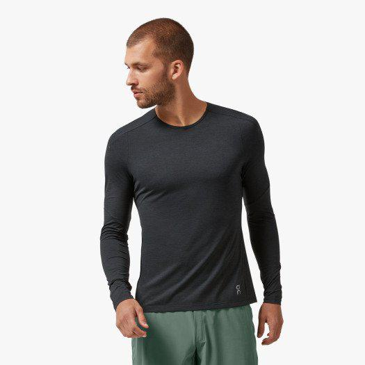 ON Running Men's Performance Long-T - Black / Extra Large