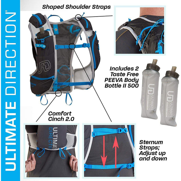 Ultimate Direction Mens Adventure Vest Signature Series 5.0 for Trail Running - [variant_title]