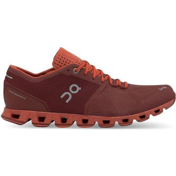 ON Running Men's Cloud X Running Shoes - Sienna/Rust / 8.5