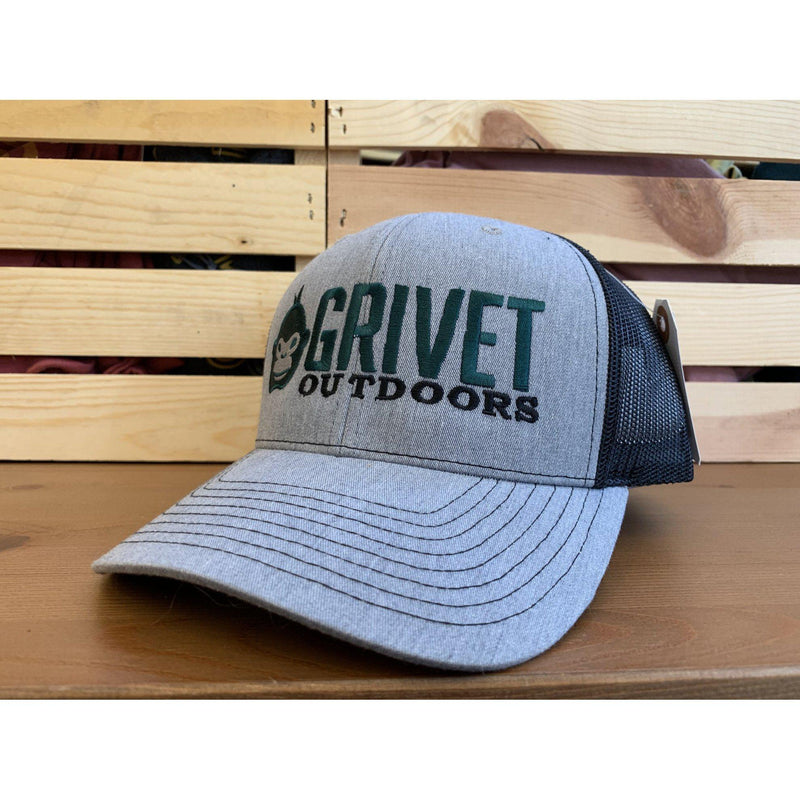 Grivet Outdoors Embroidered Trucker Hat - Heather Grey/Black