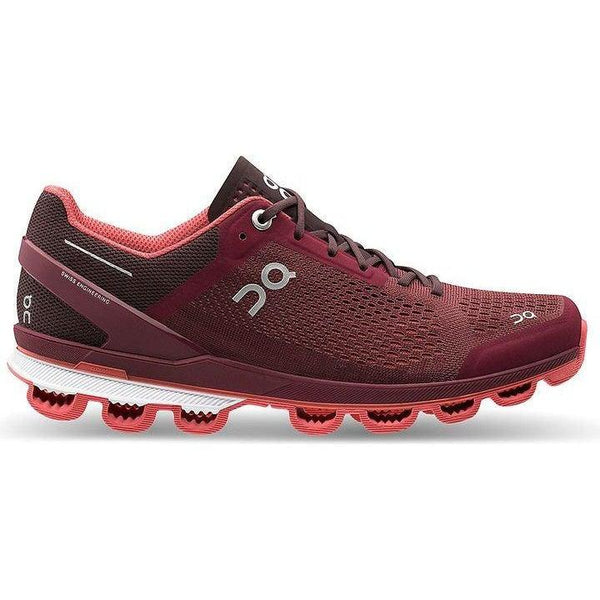 ON Running Women's Cloudsurfer Running Shoes - Mulberry/Coral / 10